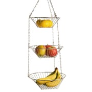 Home Basics 3-Tier Round Hanging Basket