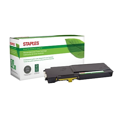 Staples® Sustainable Earth® Reman Toner Dell C3760 Yellow, High Yield (SEBD3760YRDS)