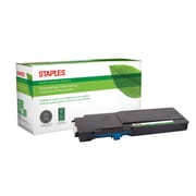 Staples® Sustainable Earth® Reman Toner Dell C3760 Cyan, High Yield (SEBD3760CRDS)