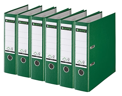 Leitz 2-Ring 3-Inch Premium A4 Sized European Binders 6-Pack, Green (1010PACK-GR)