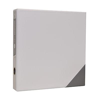 Bindertek 3-Ring 2-Inch Premium Vinyl Binder, White (3EDB2-WH)