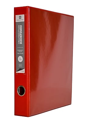 Bindertek 3-Ring 2-Inch Premium Vinyl View Binder, Red (3EDVB2-RD)