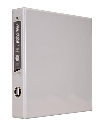 Bindertek 3-Ring 2-Inch Premium Vinyl View Binder, White (3EDVB2-WH)