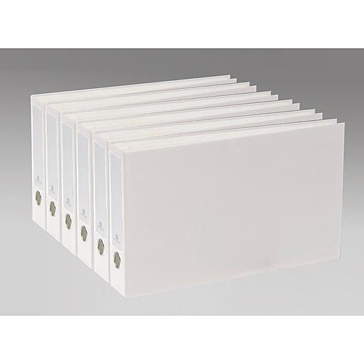 Bindertek 3-Ring 2-Inch Premium Ledger Binder 6-Pack, For