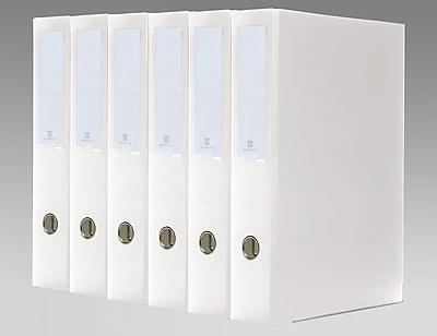 Bindertek 3-Ring 3-Inch Premium Legal Binders 6-Pack, For 8.5 x 14 Paper, White (3LGLPACK-WH)