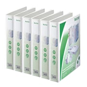 Leitz 4-Ring 1.75-Inch Premium A4 Sized European View Binders 6-Pack, White (4285PACK)
