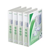 Leitz 4-Ring 2.5-Inch Premium A4 Sized European View Binders 4-Pack, White (4286PACK)