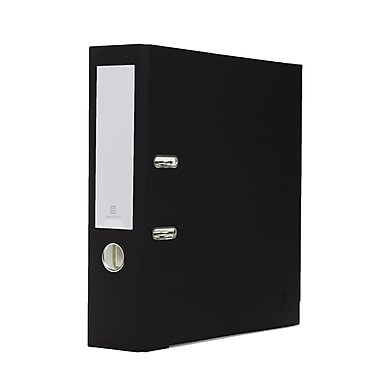 Bindertek 2-Ring 3-Inch Premium Binders, Black (EFN-BK)
