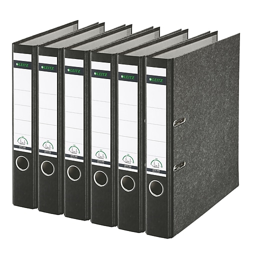 leitz 2 ring 2 inch premium a4 sized european binders 6 pack black
