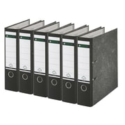 Leitz 2-Ring 3-Inch Premium A4 Sized European Binders 6-Pack, Black (R80PACK)