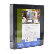 Empire Imports 4-Ring 2-Inch A4 Sized View Binder, Black (VB2-BK)