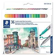 Staedtler Fiber Tip Pen Duo-Colour JB 36pcs (320C36JBU)