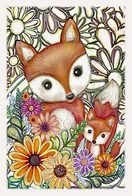 Toland Home Garden Flower Fox Garden Flag