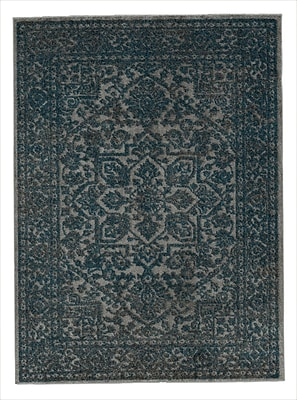 Everly Quinn Attah Blue/Gray Area Rug