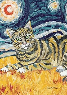 Toland Home Garden Van Meow- Tabby Kitty Garden Flag