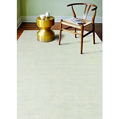 Gracie Oaks Severo Hand-Loomed Sky Area Rug; Rectangle 3'6'' x 5'6''
