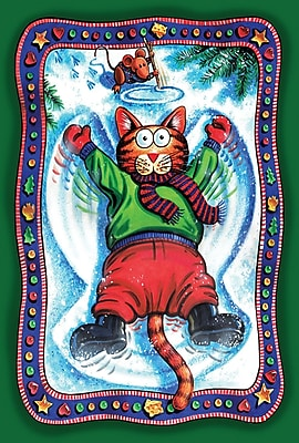 Toland Home Garden Snow Angel Kitty Garden Flag