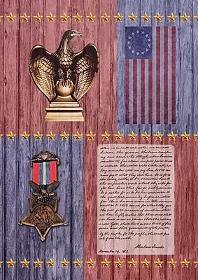 Toland Home Garden Gettysburg Address 2-Sided Garden Flag