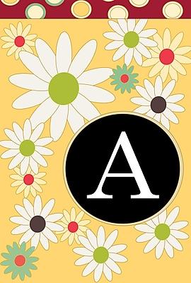Toland Home Garden Floral Monogram Garden flag; A
