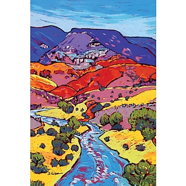 Toland Home Garden River Through The Hills 2-Sided Garden Flag