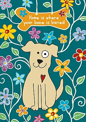 Toland Home Garden Dog Bone Garden Flag; Blue