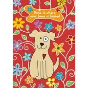 Toland Home Garden Dog Bone Garden Flag; Red