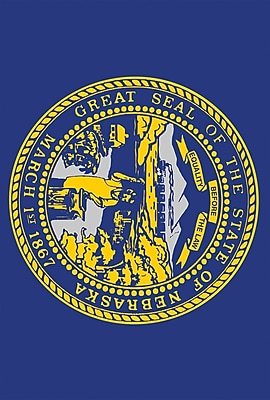 Toland Home Garden US States Garden flag; Nebraska