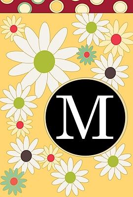 Toland Home Garden Floral Monogram Garden flag; M