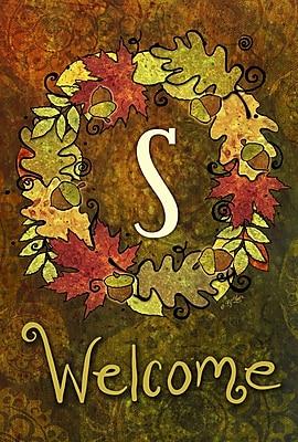 Toland Home Garden Fall Wreath 2-Sided Garden Flag; S