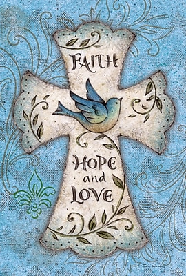 Toland Home Garden Faith Hope Love Garden Flag
