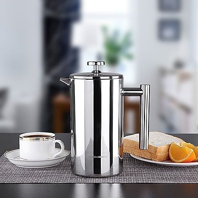Songmics French Press Stainless Steel Coffee and Tea Maker WYF078282157021