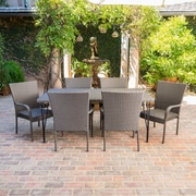 Ophelia & Co. Patty Outdoor Wicker 7 Piece Dining Set
