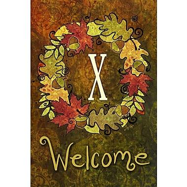 Toland Home Garden Fall Wreath 2-Sided Garden Flag; X