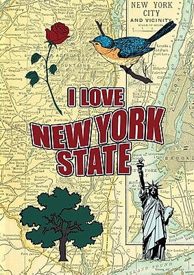 Toland Home Garden I Love New York 2-Sided Garden flag