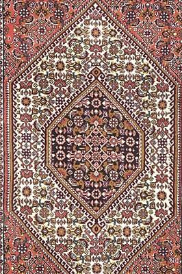 Pasargad NY Bidjar Persian Hand-Knotted Wool Ivory Area Rug