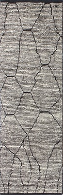 Bungalow Rose Gisselle Hand-Knotted Wool Gray Area Rug; Runner 2'6'' x 8'