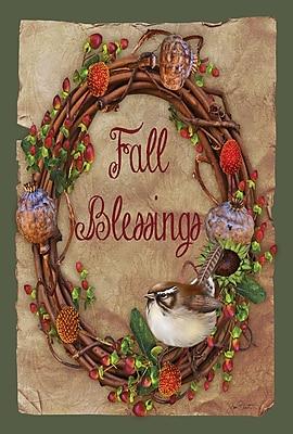 Toland Home Garden Fall Blessings 2-Sided Garden Flag