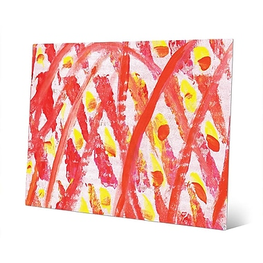 Click Wall Art 'Archetti Light Up Matches Abstract' Painting Print on Metal; 20'' H x 24'' W x 1'' D
