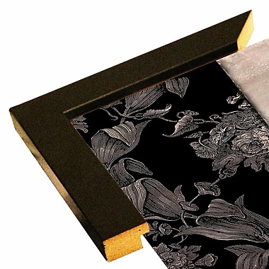Astoria Grand 'Victorian Table IV' Graphic Art Print; Affordable Black Medium Framed Paper
