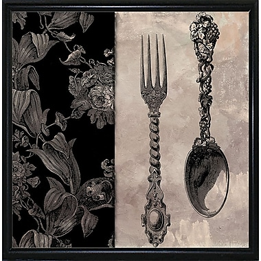 Astoria Grand 'Victorian Table IV' Graphic Art Print; Flat Black Metal Framed Paper