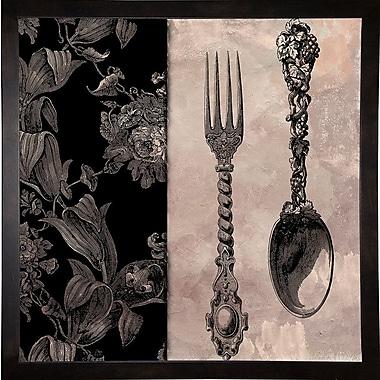 Astoria Grand 'Victorian Table IV' Graphic Art Print; Cafe Espresso Framed Paper