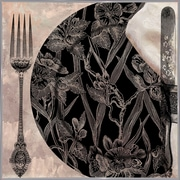 Astoria Grand 'Victorian Table II' Graphic Art Print; White Metal Framed Paper
