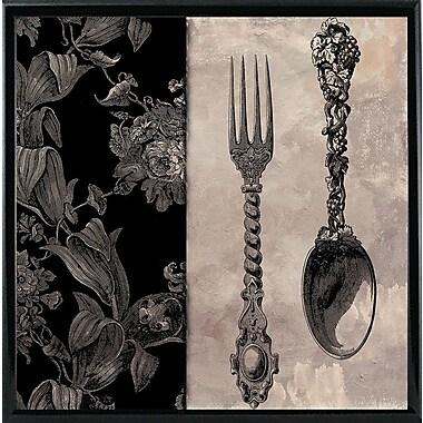 Astoria Grand 'Victorian Table IV' Graphic Art Print; Black Metal Framed Paper
