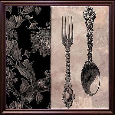 Astoria Grand 'Victorian Table IV' Graphic Art Print; Cherry Grande Framed Paper