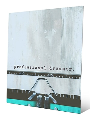Click Wall Art Typewriter 'Professional Dreamer' Graphic Art Print on Metal; 30'' H x 20'' W x 1'' D