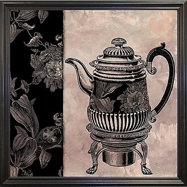 Astoria Grand 'Victorian Table III' Graphic Art Print; Black Grande Framed Paper
