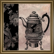 Astoria Grand 'Victorian Table III' Graphic Art Print; Bistro Gold Framed Paper