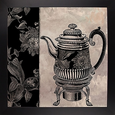 Astoria Grand 'Victorian Table III' Graphic Art Print; Affordable Black Large Framed Paper