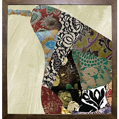 Bloomsbury Market 'Pear Brocade I' Graphic Art Print; Cafe Mocha Framed Paper