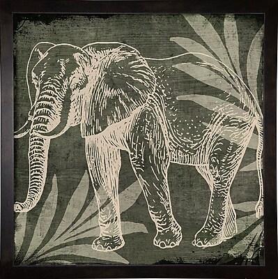 Bloomsbury Market 'Elephant 1' Graphic Art Print; Cafe Espresso Framed Paper